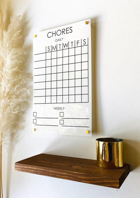 Chore Chart Memo Board For Kids