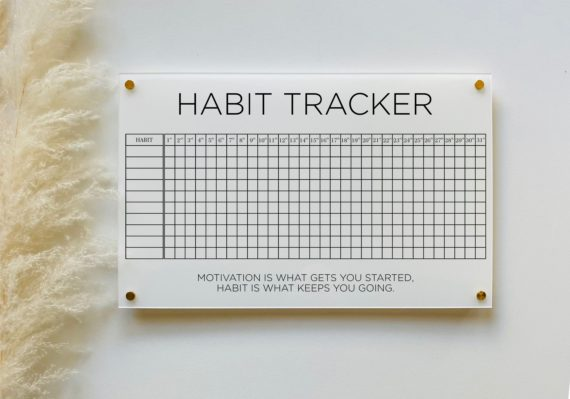 Acrylic Habit Tracker Board For Wall
