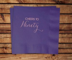 90th Birthday Cocktail Napkins, set of 100
