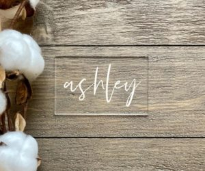 Escort Card Table Signs