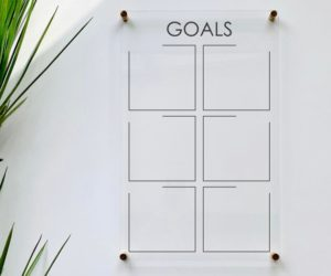 Acrylic Goals Board For Wall