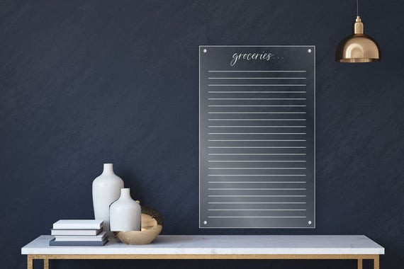 Acrylic Grocery List For Wall
