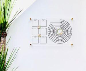 Acrylic Habit & Goal Tracker Board For Wall