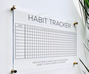 Acrylic Habit Tracker Board For Wall