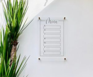 Acrylic Menu Board For Wall