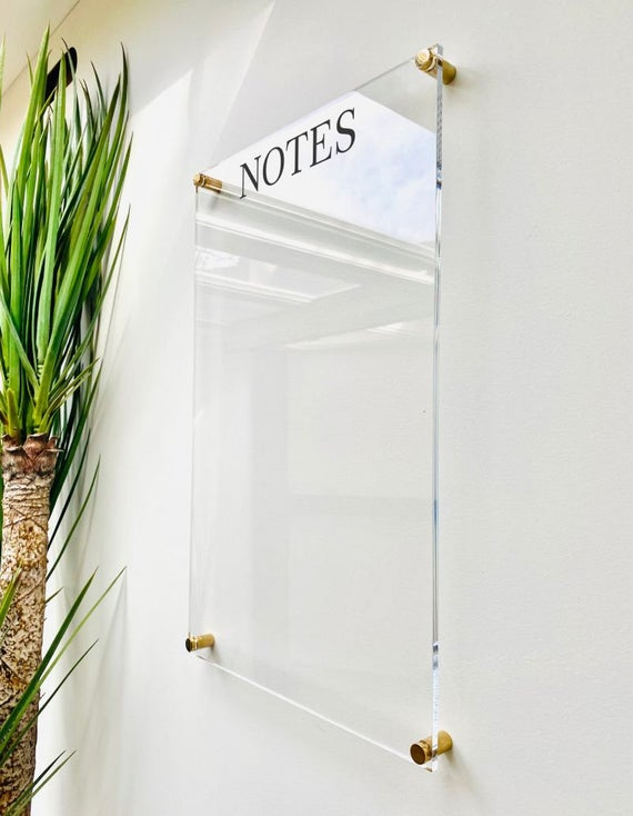 Acrylic Notes Board For Wall