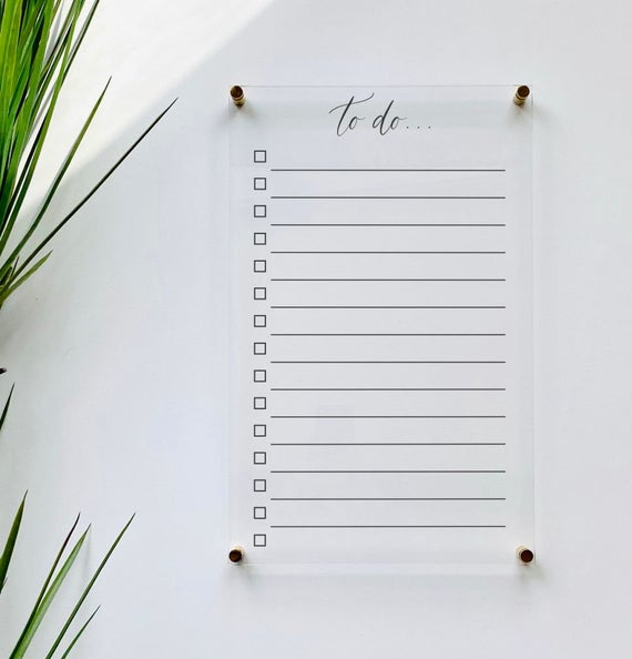 Acrylic To Do List For Wall