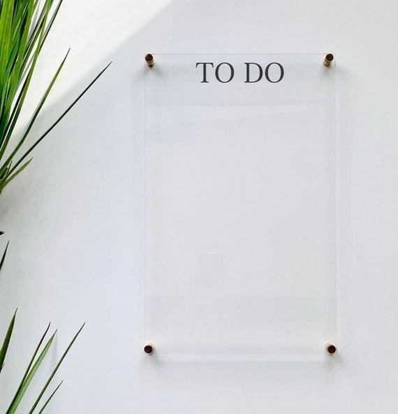 acrylic to do list for wall ebb