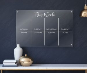 Acrylic Weekly Calendar Board For Wall