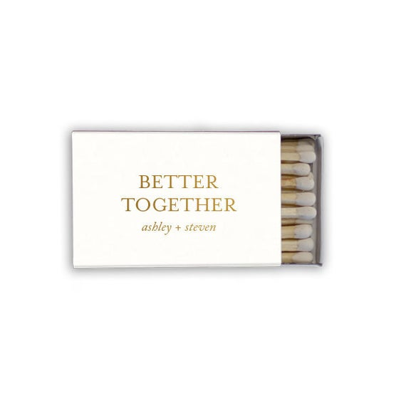 Better Together Personalized Matches, set of 50