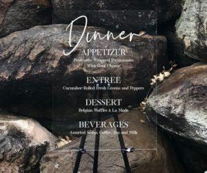 Custom Acrylic Dinner Menu Sign