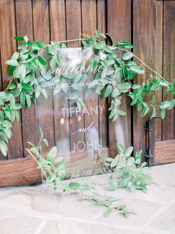 Custom Acrylic Wedding Welcome Sign