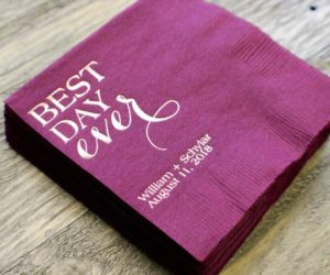 Custom Best Day Ever Cocktail Napkins, set of 100