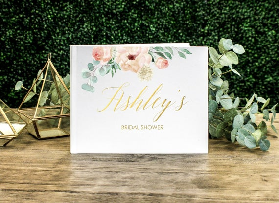 Custom Bridal Shower Guest Book