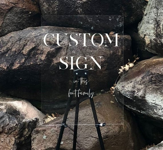 Custom Large Acrylic Sign