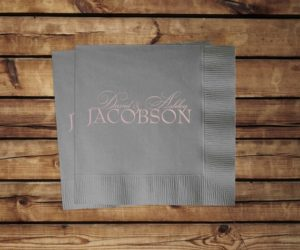 Custom Wedding Cocktail Napkins, set of 100