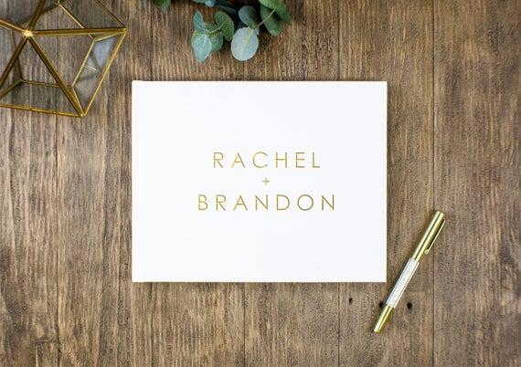 Custom Wedding Guest Book