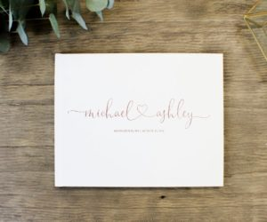 Custom Wedding Guest Book