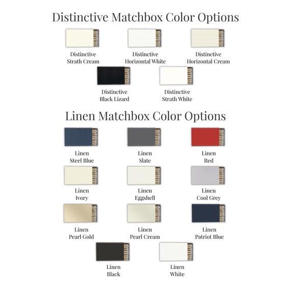 Monogram Personalized Matches, set of 50