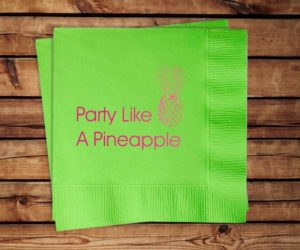 Party Like A Pineapple Cocktail Napkins, set of 100