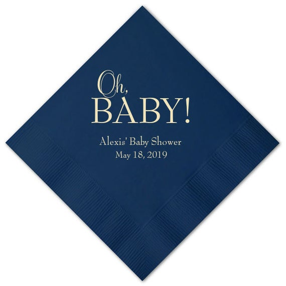 Personalized Baby Shower Napkins, set of 100