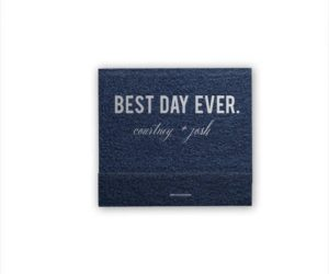 Personalized Best Day Ever Matches, Set of 50