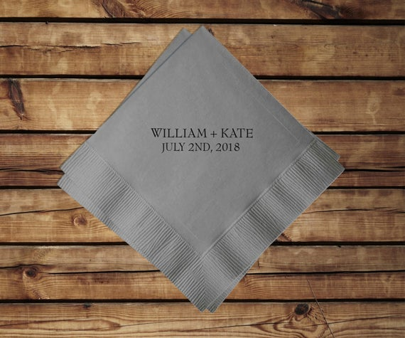 Personalized Cocktail Napkins, set of 100