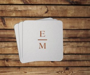 Personalized Initial Coasters, set of 100