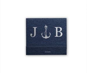 Personalized Matches Nautical Monogram, Set of 50