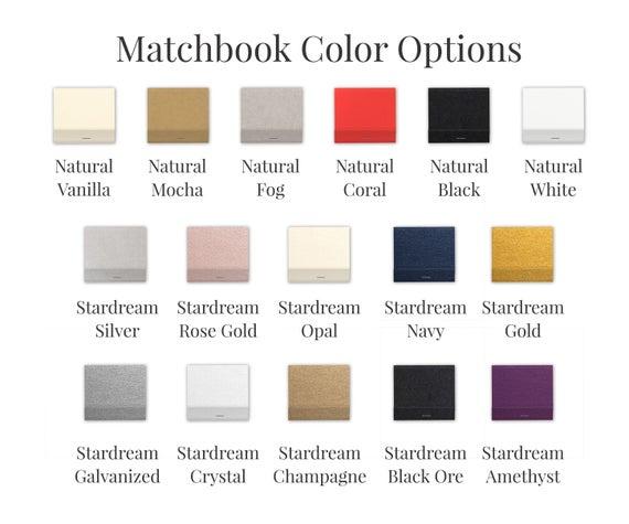 Personalized Monogram Matches, Set of 50