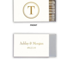Personalized Monogram Wedding Matches, set of 50