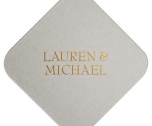 Personalized Wedding Coasters, set of 100