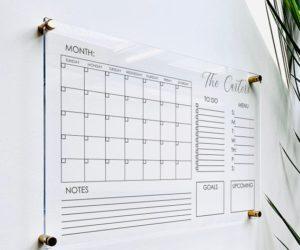 Personlized Acrylic Calendar For Wall