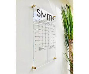 Personlized Acrylic Calendar For Wall, 7 Week Design