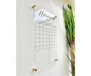 Personlized Acrylic Calendar For Wall, 7 Week Design