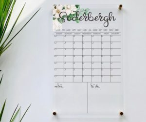 Personlized Acrylic Calendar For Wall