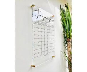 Personlized Acrylic Calendar For Wall, 9 Week Design
