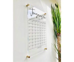 Personlized Acrylic Calendar For Wall, 9 Week Design