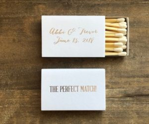 The Perfect Match Personalized Matches, Set of 50