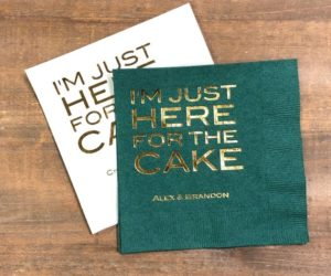 Wedding Cocktail Napkins, set of 100