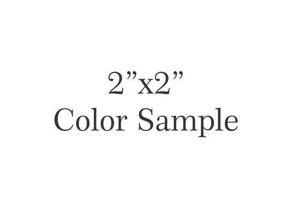 2 Inch x 2 Inch Acrylic Hex Code Color Sample