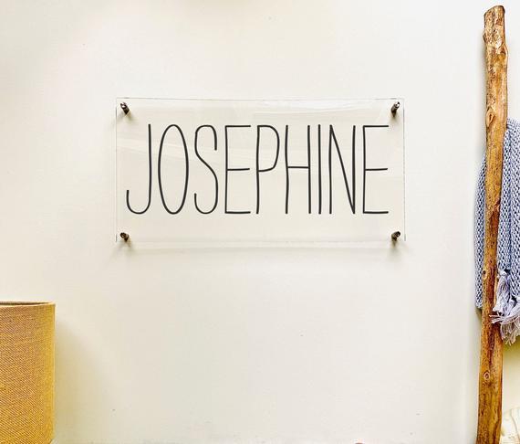 Custom Acrylic Name Sign