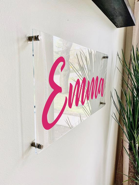 Custom Acrylic Name Sign