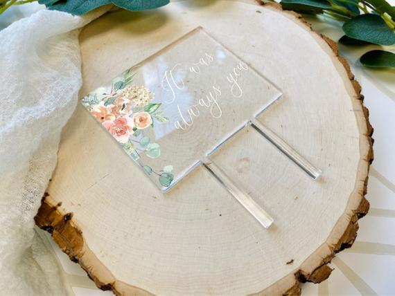 Floral Wedding Cake Topper