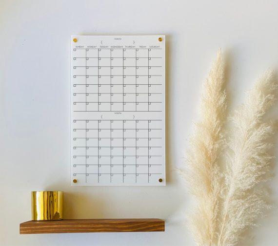 2 Month Wall Calendar