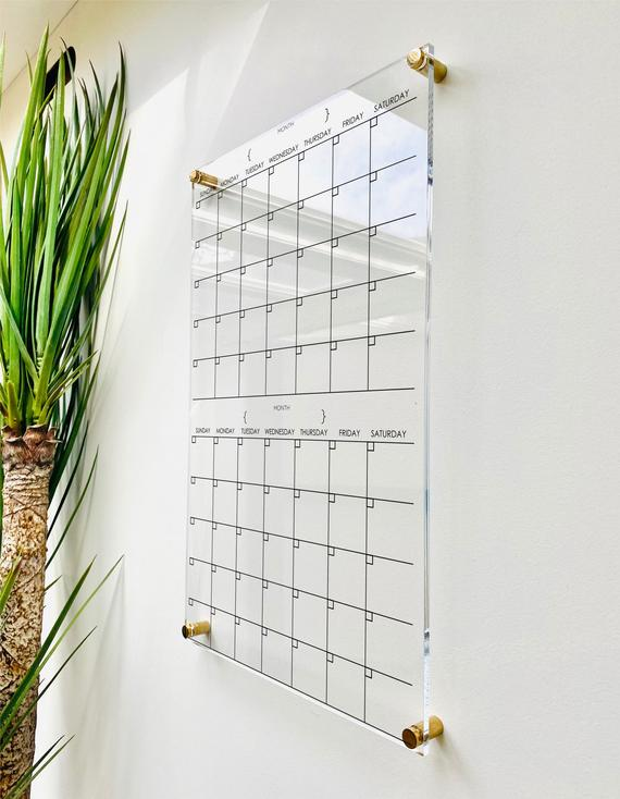 Acrylic Calendar For Wall 2 Month Design