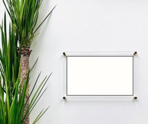 Blank Acrylic Dry Erase Writing Board with Standoffs