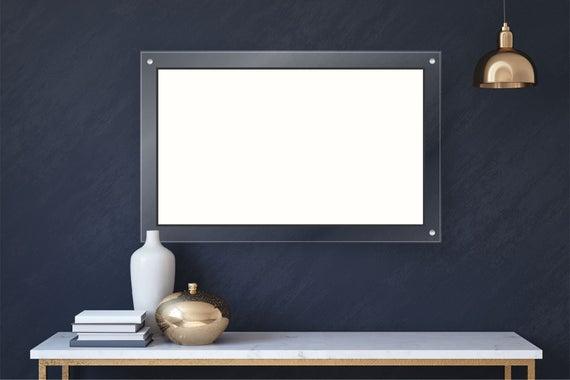 Blank Acrylic Dry Erase Writing Board with Standoffs