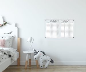 Personalized Chore Chart For 2 Children
