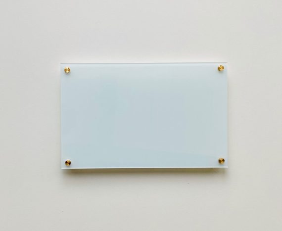 Floating Blue Mint Acrylic Dry Erase Writing Board